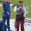 Double Trap Shooting Finalists — Stock Photo