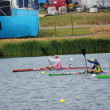 Stock Photo: Women's K1 kayak single 500m