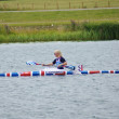 Rachel Cawthorn Team GB Women's K1 kayak single 500m finalist — Stock Photo