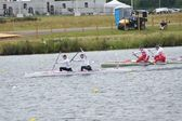 Men's canoe doubles Winners Germany Gold & Russia Bronze — Stock Photo