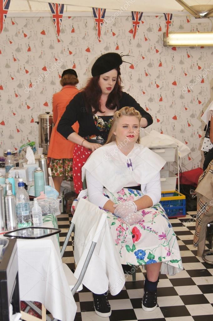 Vintage hair and beauty salon stock editorial photo for 1950 s beauty salon