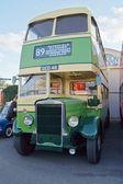 Vintage rural double decker bus — Stock Photo