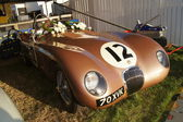 Jaguar c тип гоночный автомобиль — Стоковое фото