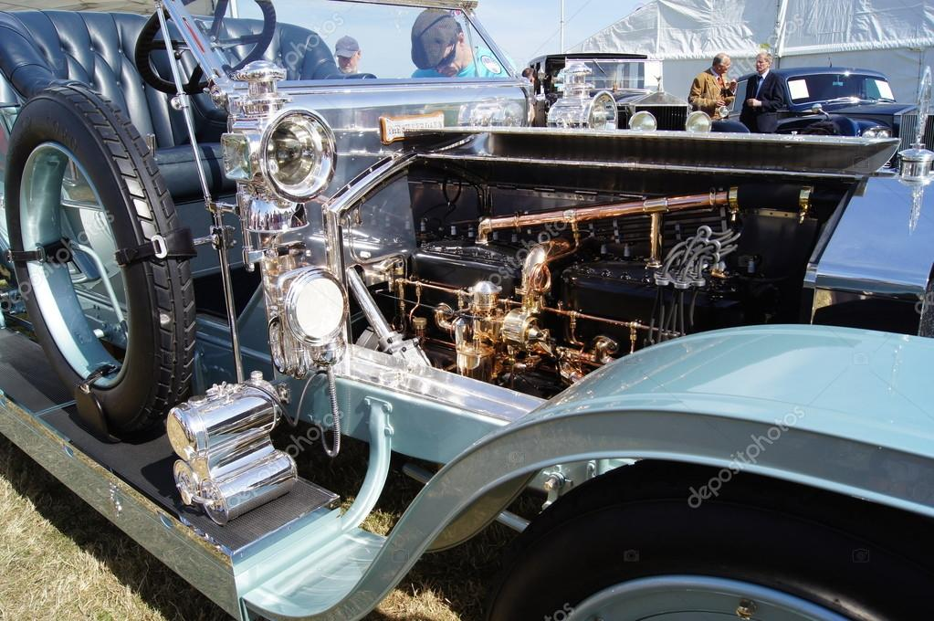 WEST SUSSEX, ENGLAND. SEPTEMBER 2012: 1909 Rolls Royce Silver Ghost 'The Silver Dawn' at the Goodwood Revival festival on 15th September 2012; Goodwood, West Sussex, England.  — Stock Photo #12963316