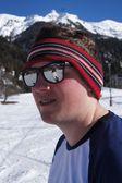 Narciarz na sobie okulary — Zdjęcie stockowe