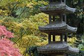 Sanktuarium w ogród japoński — Zdjęcie stockowe