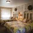 Rustic motel room — Stock Photo