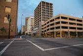 City street in morning — Stock Photo