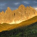 Sunset alpenglow on mountains — Stock Photo #21544445