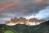 Sunset, Dolomite Mountains in Italy — Stock Photo