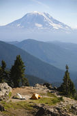 Tents near Mount Adams, Washington State — Stock Photo