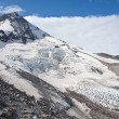 Stock Photo: Eliot Glacier on Mt. Hood