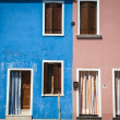 Multi-colored houses, Burano, Italy — Stock Photo