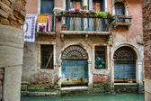 Balcony, canal, Venice, Italy — Stock Photo