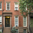 Greenwich Village apartment buildings, New York City - Stock Photo