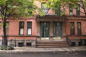 Greenwich Village apartment buildings, New York City — Stockfoto