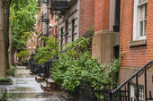 Greenwich Village apartment buildings, New York City — Stock Photo