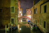 Canal at night, Venice, Italy — Stock Photo