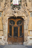 Old beaux-arts doors in Paris, France — Stock Photo