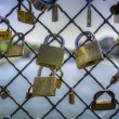 Locks symbolizing eternal love — Stock Photo