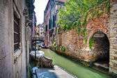 Apartments on a canal, Venice, Italy — Stock Photo