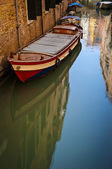 Boat in a canal, Venice, Italy — Stock Photo