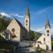 Church and steeple, Tyrolean region of Italy — Stock Photo