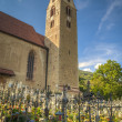 Church and graveyard, Tyrolean region of Italy — Stock Photo