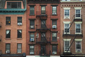 Old apartment buildings, New York City — Stock Photo