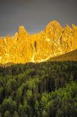 Zonsondergang, dolomieten, italië — Stockfoto