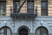 Apartment building, Manhattah, New York City — Stock Photo