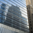 Reflective glass skyscrapers, Manhattan, New York City — Stock Photo