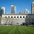 Bryant Park lawn, New York City Library — Stock Photo #25226417