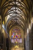 内部的圣三一大教堂,曼哈顿,纽约城 — 图库照片