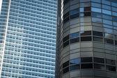 Reflective glass skyscrapers, Manhattan, New York City — Stock Photo