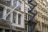 Historic buildings in New York City's Soho District — Stock Photo