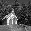 Stock Photo: Old country church in Oregon