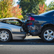 Stock Photo: Auto accident involving two cars