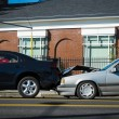 Auto accident involving two cars — Stock Photo