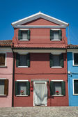Casa colorida, burano, itália — Foto Stock