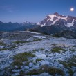 Mt Shuksan and the rising moon, Washington state cascade range — Stock Photo #33738323