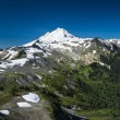 Stock Photo: Snowcapped Mount Baker, PtarmigRidge, Washington state Cascad