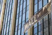 Sign for Wall Street, New York — Stock Photo