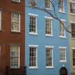 Colorful apartment buildings, New York City — Stock Photo #34776421