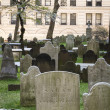 Trinity church graveyard, New York City — Stock Photo
