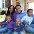 African American Family — Stock Photo