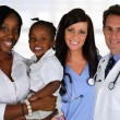 Doctors and Nurse With Patient — Stock Photo