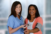 Nurse and Patient — Stock Photo