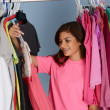 Teenager In Her Closet — Stock Photo