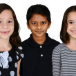 Children Together On White Background — Stock Photo